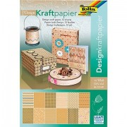 """Folia Kraftpapierblock """"Vintage"""", 21 x 29,7 cm, 12 Blatt"""