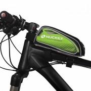 NUCKILY PL06 tocar-screen Bike Front Frame Saddle Bag para telefono movil-Verde