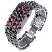 JAPANESE INSPIRED METAL STRAP LAVA STYLE DIGITAL LED BRACELET WATCH FOR BOY-GIRL