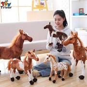 Plush Simulation Horse Toy Stuffed Animal Zebra Doll Black White Horses Baby Kids Birthday Gift Home Shop Decor