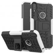 Capa Híbrida Antiderrapante com Função de Suporte para Asus Zenfone Max Pro (M1) - Preto / Branco