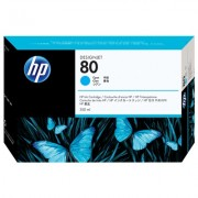 HP 80 cyaan inktcartridge, 350 ml