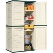 Kerti szerszámtároló szekrény 4 polccal, 75 x 52,5 x 187 cm, FDD 1004G