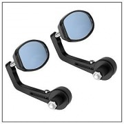 Bikers World Handle Bar Left Right Set Mirror For Two Wheelers