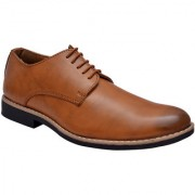 Hirels Tan Derby Lace Up Shoes
