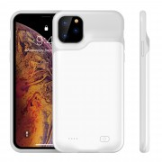 For Apple iPhone 11 Pro 5.8 inch 5200mAh Backup Battery Power Bank Charging Case - White/Grey