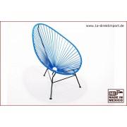 1a Direktimport Original Acapulco Chair - blau, Designer Sessel für Outdoor und Indoor