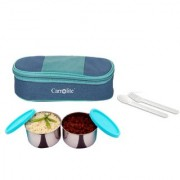 Sling 2 Container lunchbox 400 Ml blue and green