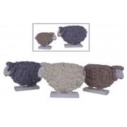 Pecora in lana, piccola, colore grigio