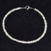 Bratara perle de cultura albe neuniforme 3mm