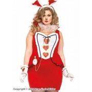 Elegant kanin-kostym, Alice i Underlandet, plus size