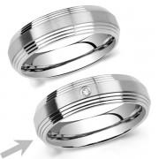 Silvego L´AMOUR prsten snubní pro ženy z chirugické oceli - RRC2030-Z
