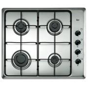 Plită incorporabila Teka HLX 60 4G AI AL, Gaz, 4 zone de gătit, Siguranţă flacără, Aprindere electrică, Grătare metal, 60 cm, Inox, ST6XG271