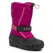Cizme de zăpadă SOREL - Youth Flurry NY1965 Deep Blush/Tropic Pink 684