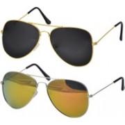 Freny Exim Aviator Sunglasses(Yellow, Black)