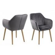 D2 Krzesło Emilia Velvet szare