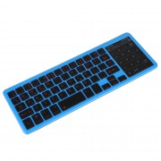 Backlight Slim Bluetooth Keyboard Numeric Key Touch Pad for iOS Android Windows - Blue