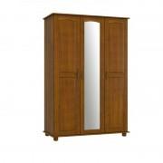 Guarda Roupa 03 Portas 1714 Finestra Onix Imbuia