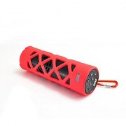 PYLE PWPBT30RD Bluetooth Water Resistant Flashlight Speaker with Call Answering Mic FM Radio Micro SD Reader & AUX-Inp