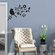 Sticker decorativ de perete Sticky, 260CKY1002, Negru