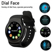 Y1 Multi Function Smart Watch with Pedometer Stopwatch Heart Rate Recording With Bm-170 (Stereo Sound) Music Bluetooth H