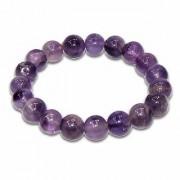REBUY Amethyst Stretch Bracelet For Daily Wear Office Wear Party Wear Natural Gems for Men Women