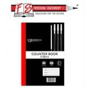 Treeline A4 Feint and Margin 3 Quire Counter Book