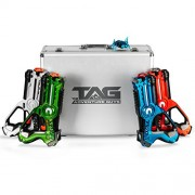 The Adventure Guys Laser Tag for Kids - Deluxe Lazer Gun Set of 4 with Designer Case & Beetle Bug Multiplayer Game Play W/ Unique Settings Safe and Fun Children Adults Alike