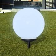 vidaXL Garden Path Solar Ball Light LED 40cm 1pcs with Ground Spike