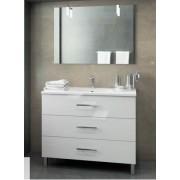 MUEBLE DE BAÑO GLORIA 3 CAJONES.VIBERCO (Envío Gratis) - Conjunto de 70cm(Mueble+lavabo+espejo+Apliques)