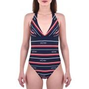Tommy Hilfiger Jednodílné plavky Classic One-Piece RP Hrtg Logo Str Navy Blazer UW0UW01495-411 M