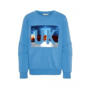 NAME IT UK Flip Sequin Sweatshirt Blue