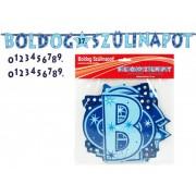 Betűfüzér számozható Boldog szülinapot kék 240x21cm M35934