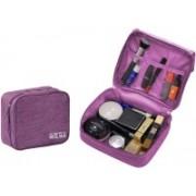 House of Quirk Portable Travel Toiletry Bag Multi-Purpose Makeup Organizer Waterproof Cosmetic Case - Purple Travel Toiletry Kit(Purple)