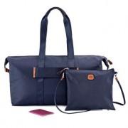 Brics X-Bag 2 in 1 Reisetasche, Nylon, faltbar, Ocean Blue