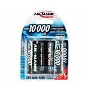 Batería recargable cilíndrica NI-MH ANSMANN LR20/MONO D 10000mAh