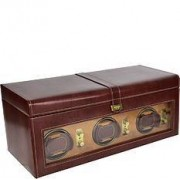 Dulwich Heritage Watch box with rotomat triple bronze watches
