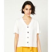 ETAM Effen blouse met knopen - 38 - WIT - Etam