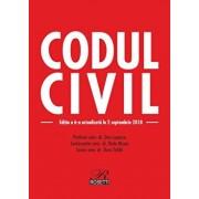 Codul civil. Editia a 6-a actualizata la 2.09.2018/Dan Lupascu, Radu Rizoiu, Doru Traila