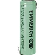 Acumulator NiMH cu urechi de lipire Z, AA, 1,2 V, 2500 mAh, Emmerich