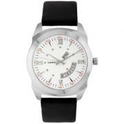 Laurels White Color Day & Date Analog Men's Watch With Strap: LWM-EX-010207