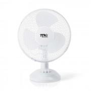 Asztali ventilátor - 27 cm - fehér - (51109)