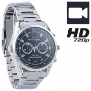 OctaCam HD-Kamera-Uhr VA-720 mit 720p-HD-Video interpoliert, 3 IR-LEDs, 16 GB