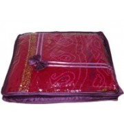 Addyz Plain Pack Of 12 - Upto 2 Pcs Heavy Saree Case(Purple)