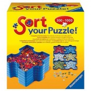 Ravensburger Puzzle Sort and Go Includes 6 Stackable Puzzle Piece Sorting and Storage Trays