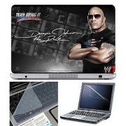FineArts Laptop Skin - Team The Rock With Screen Guard and Key Protector - Size 15.6 inch
