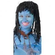 Geen Zwarte Blauwe jungle strijder pruik voor vrouwen