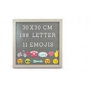 "10x10"" Peg Board w/ 180 Letters & 11 Emoji's"