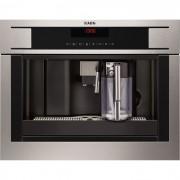 Espresso incorporabil Aeg PE4571-M, putere 1350 W, rasnita incorporata, display lcd, program de decalcifiere, inox antiamprenta