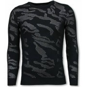 John H 3D Camouflage Patroon Trui - Neon Pullover - Wit
